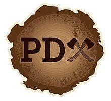 PD Axe on Wood Grain Photographic Print