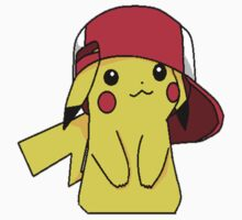Pika and Ash's hat by dervmcd