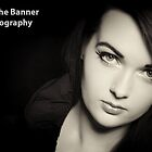 Close-up portrait of sexy caucasian young woman model by upthebanner