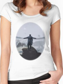 Sherlock above the Sea of Fog Women's Fitted Scoop T-Shirt