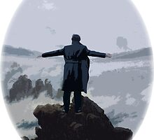 Sherlock above the Sea of Fog by EllaRoveda