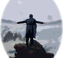 Sherlock above the Sea of Fog by EllaRoveda