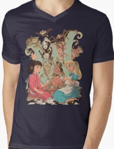 Wonderlands Mens V-Neck T-Shirt