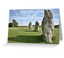 Avebury neolithic stone circle Wiltshire Greeting Card