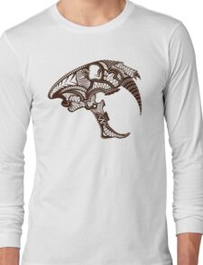 Sabre Tooth Tiger Skull Long Sleeve T-Shirt