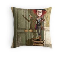 The Mad Hatter - Alice in Wonderland Art Throw Pillow