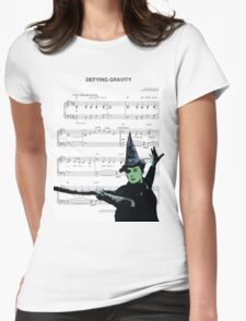Try Defying Gravity Womens Fitted T-Shirt