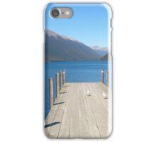 jetty, lakeside, New Zealand iPhone Case/Skin