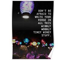 Wibbly Wobbly Lanterns Poster