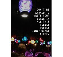 Wibbly Wobbly Lanterns Photographic Print