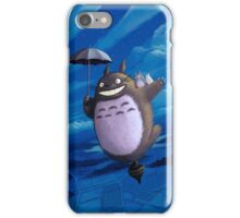 Totoro on his toupie iPhone Case/Skin