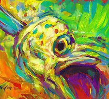 Mahi Study - Contemporary Dolphin Fish Art by Mike Savlen