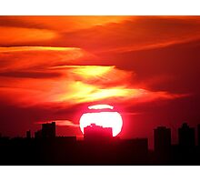 Sunset in New York City  Photographic Print