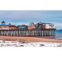 Winter Pier Photographic Print