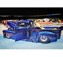 Electric Blue Custom Truck Photographic Print