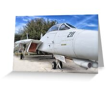 Retired Fighter Jet Greeting Card