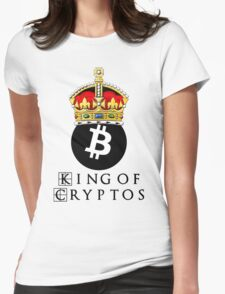 Bitcoin King Of Cryptos Womens Fitted T-Shirt