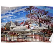 Retired Military Fighter Jet Poster