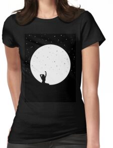 MOON GIRL Womens Fitted T-Shirt