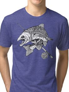 Zombie Trout Tri-blend T-Shirt