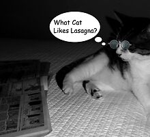 Cat Reading The Funny Pages by smilku