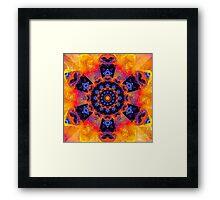 Windmill Mandala Framed Print
