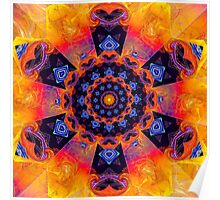 Windmill Mandala Poster