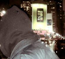 Alone in crowded New York Sticker