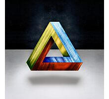Penrose Triangle RGB Photographic Print