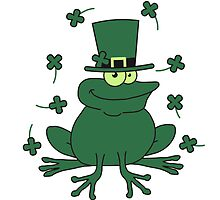 Happy St. Patricks Day Comic Frog by Style-O-Mat