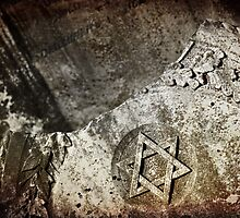 """Graveyard Adornments #17 - """" Old Jewish Headstone """" by Malcolm Heberle"""