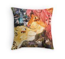 lion king collage Throw Pillow