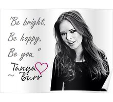 Tanya Burr - BE YOU Poster
