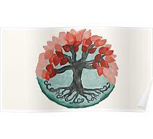 Lovely Autumn Tree Mandala Oil Painting Poster