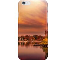 Sunset over Jamaica Pond iPhone Case/Skin