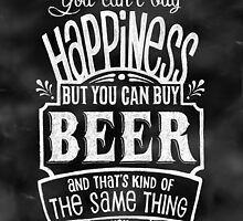 Beer Lover's Poster - Chalkboard Style by Rockinchalk