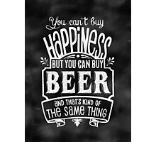 Beer Lover's Poster - Chalkboard Style Photographic Print