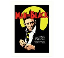 Man in Black Art Print