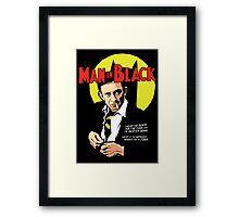 Man in Black Framed Print