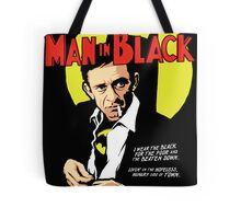 Man in Black Tote Bag