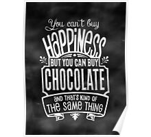 Chocolate Lover's Poster - Chalkboard Style Poster