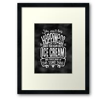 Ice Cream Lover's Poster - Chalkboard Style Framed Print