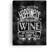 Wine Lover's Poster - Chalkboard Style Canvas Print