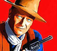 John Wayne in Rio Bravo by Art Cinema Gallery