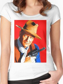 John Wayne in Rio Bravo Women's Fitted Scoop T-Shirt