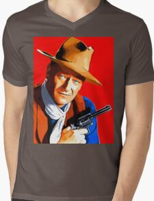 John Wayne in Rio Bravo Mens V-Neck T-Shirt