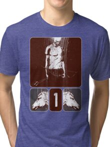and he rode out as a conqueror bent on conquest Tri-blend T-Shirt