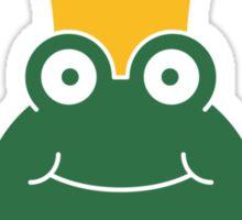 Comic Frog King Design Sticker