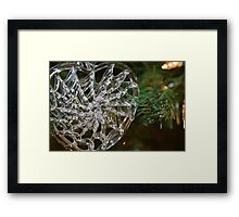 Glass Heart Framed Print