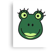 Comic Frog Girl Face Canvas Print